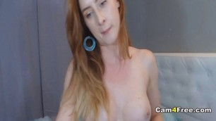 Red Head Babe Drilled Both Holes