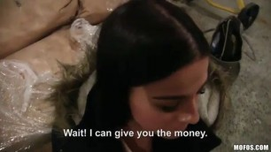 EVELINE dellai porn hd - Euro Chick Flashes Ass for Cash