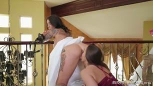Brazzers - Bisexual Bride Felicity Feline With Her Girlfriend Abigail Mac Hot videos
