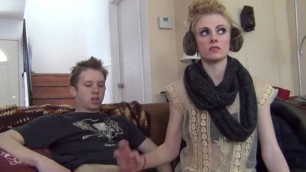 Connie And Jerky wife gives handjob jerkygirls