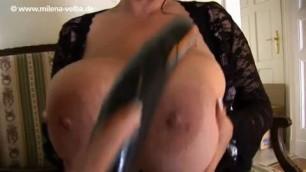 Milena Velba and Angela White Blowing