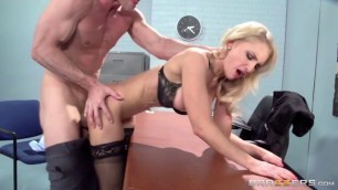 alix lynx Wild fuck Spectacular blonde in the office