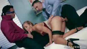 Brazzers - BigTitsAtWork Horny Secretary blond hot Nicole Aniston Nicole's Work Is Never Done