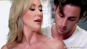 Making A Mess On Experienced Stepmom Brandi Love Lucas Frost Blowjob on the kitchen