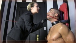 Mistress T Glove Lover Made Into Fuck Slave